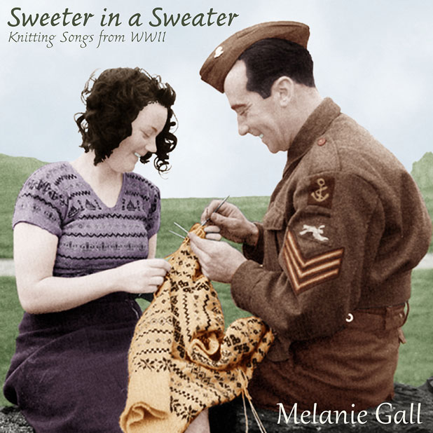 CD cover from Sweeter in a Sweater – Knitting Songs of WWII
